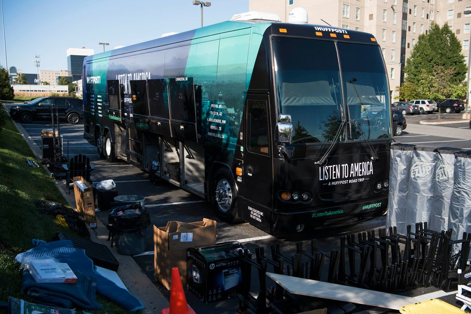 HuffPost and Peak XV Global Events complete preparations for the bus tour.