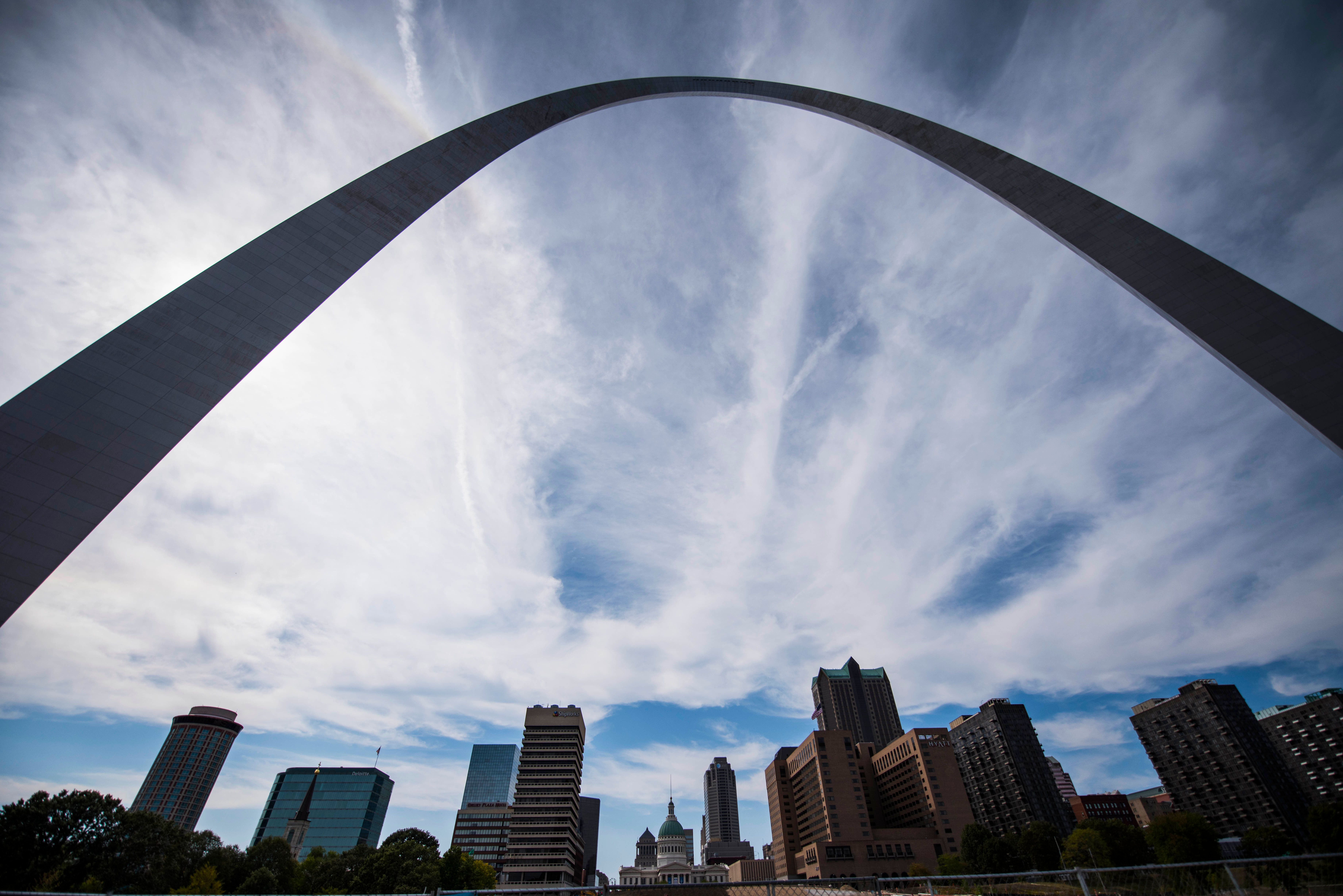 The iconic Gateway Arch.