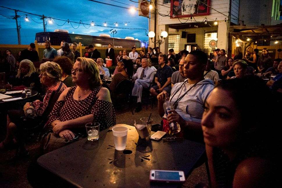 """The audience at the """"Three Years After Ferguson: Seeking Solutions in St. Louis""""€ event."""