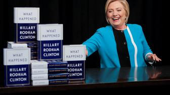 Former Secretary of State Hillary Clinton attends a signing of her new book 'What happened' at Barnes & Noble bookstore at Union Square in Manhattan, New York City, U.S., September 12, 2017.  REUTERS/Andrew Kelly