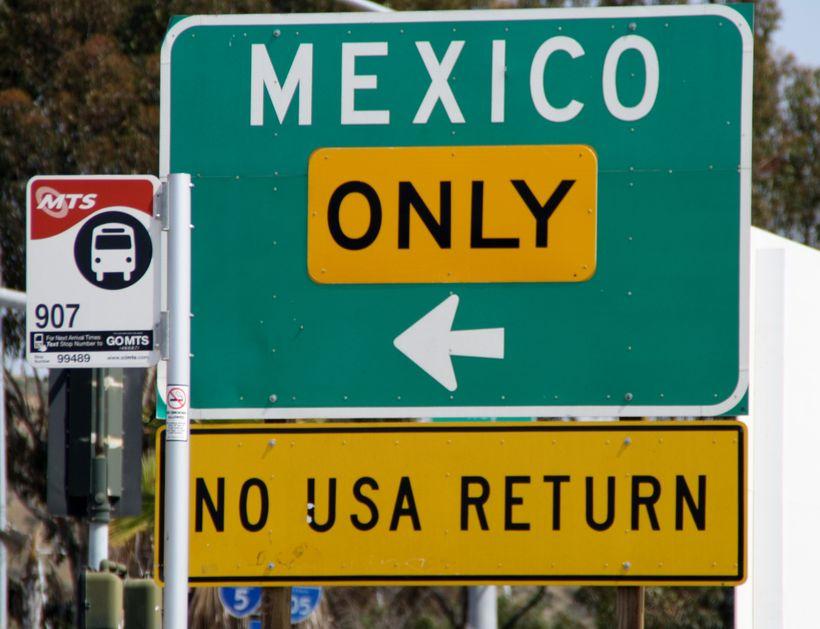 US-Mexico border at San Ysidro / Tijuana