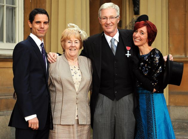 Andre was at Paul's side, together with his sister Sheila (left) and daughter Sharyn, when he collected...