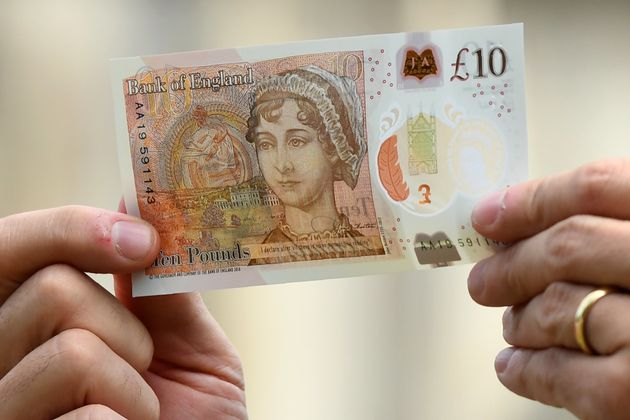 The new £10 note featuring Jane Austen, which has entered circulation and will start to show up...