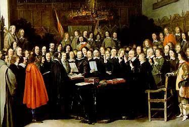 1648 signing of the Treaty of Westphalia