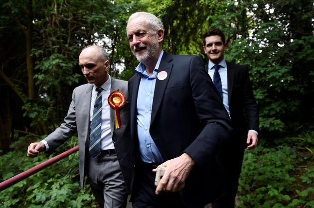 Derby MP Chris Williamson with Labour leader Jeremy