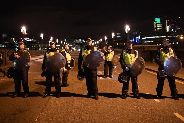 Police at the scene of the London Bridge terror attack in