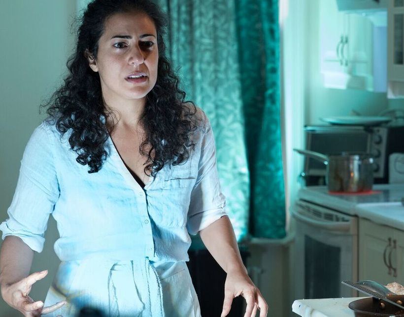 """Nadine Malouf in Amir Nizar Zuabi's play """"Oh My Sweet Land"""" which takes place in kitchens of the greater New York area."""