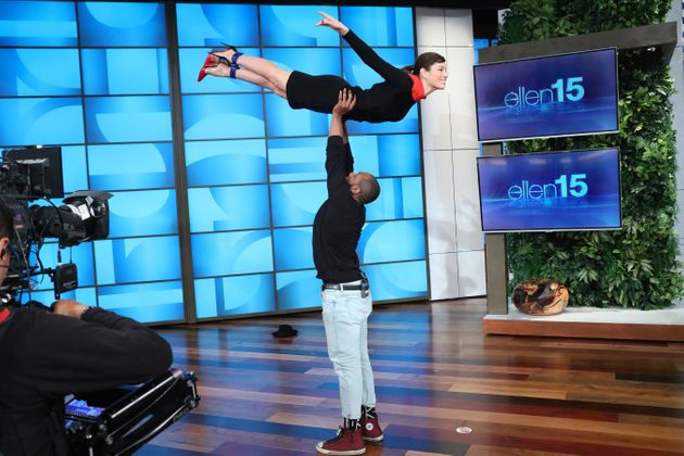 Jessica Biel's 'Dirty Dancing' Lift Is An 'Ellen' Entrance For The