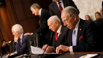 Senator Chuck Grassley (R-IA) arrives for a Judiciary Committee hearing into alleged Russian meddling in the 2016 election on Capitol Hill in Washington, U.S., July 26, 2017. REUTERS/Aaron P. Bernstein