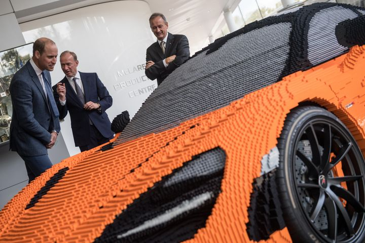 """My son's very into Lego and he'd love this. It's incredible,""  said Prince William."