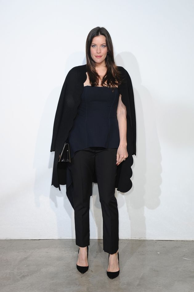 Liv Tyler mixing blue and black at theDior Cruise Collection 2014 show on May 18, 2013 in