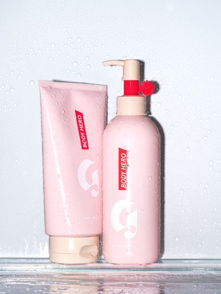"""<a href=""""https://www.glossier.com/products/body-hero-daily-perfecting-cream"""" target=""""_blank"""">Body Hero Daily Perfecting Cream"""