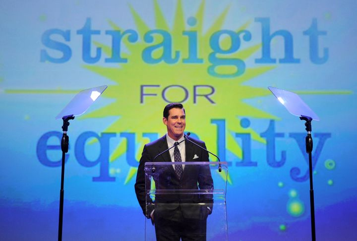 Billy Bean, Major League Baseball's vice president for social responsibility and inclusion,speaks at the 7th Annu
