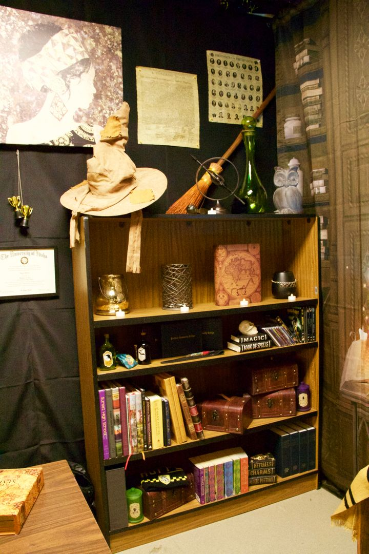 Hubler brought his own collection of Harry Potter merchandise from home to the school and worked on decorating the room a month before the new year was set to start.