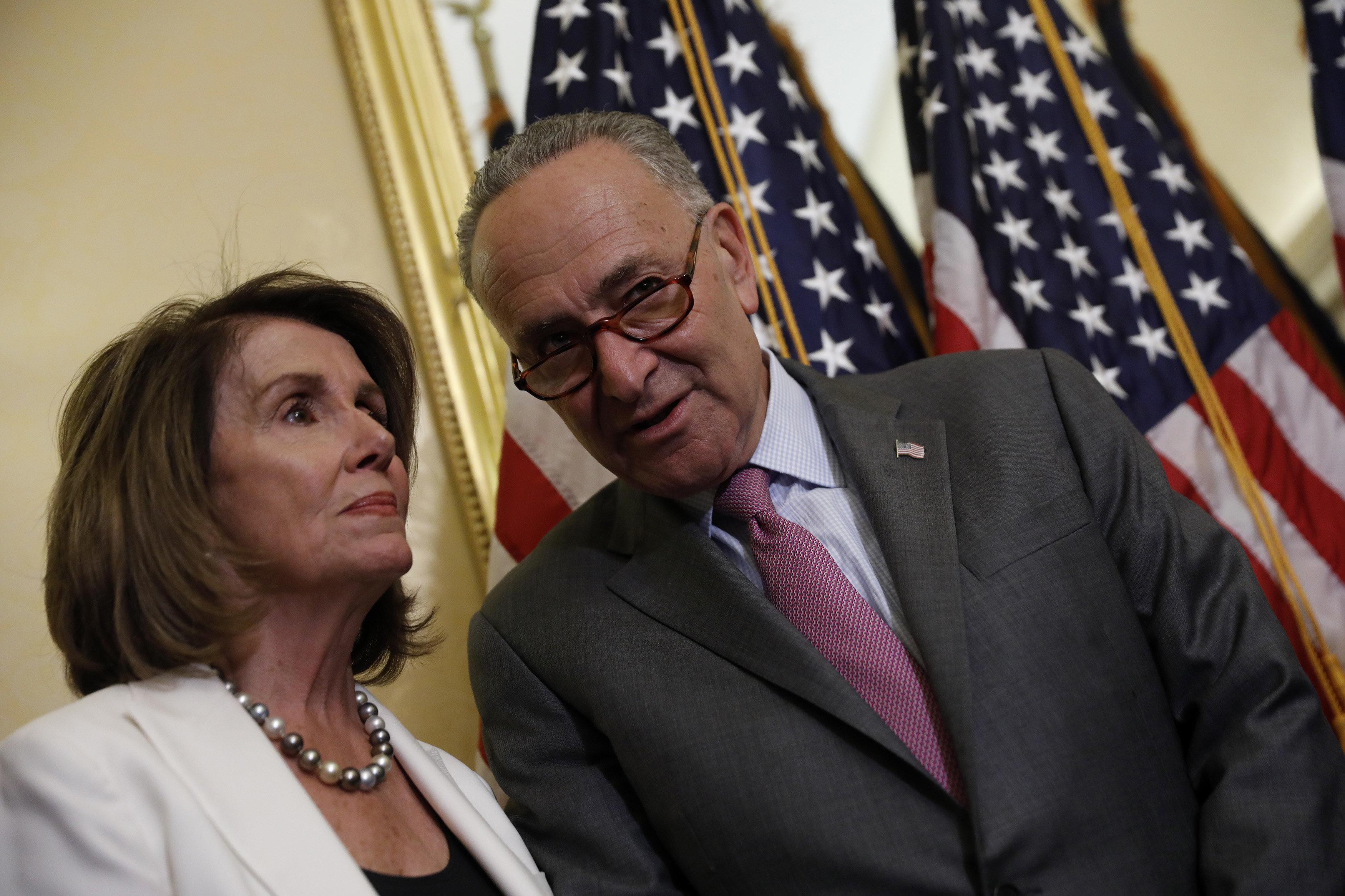 Senate Minority Leader Chuck Schumer (D-N.Y.) andHouse Minority Leader Nancy Pelosi (D-Calif.) said Wednesday they had