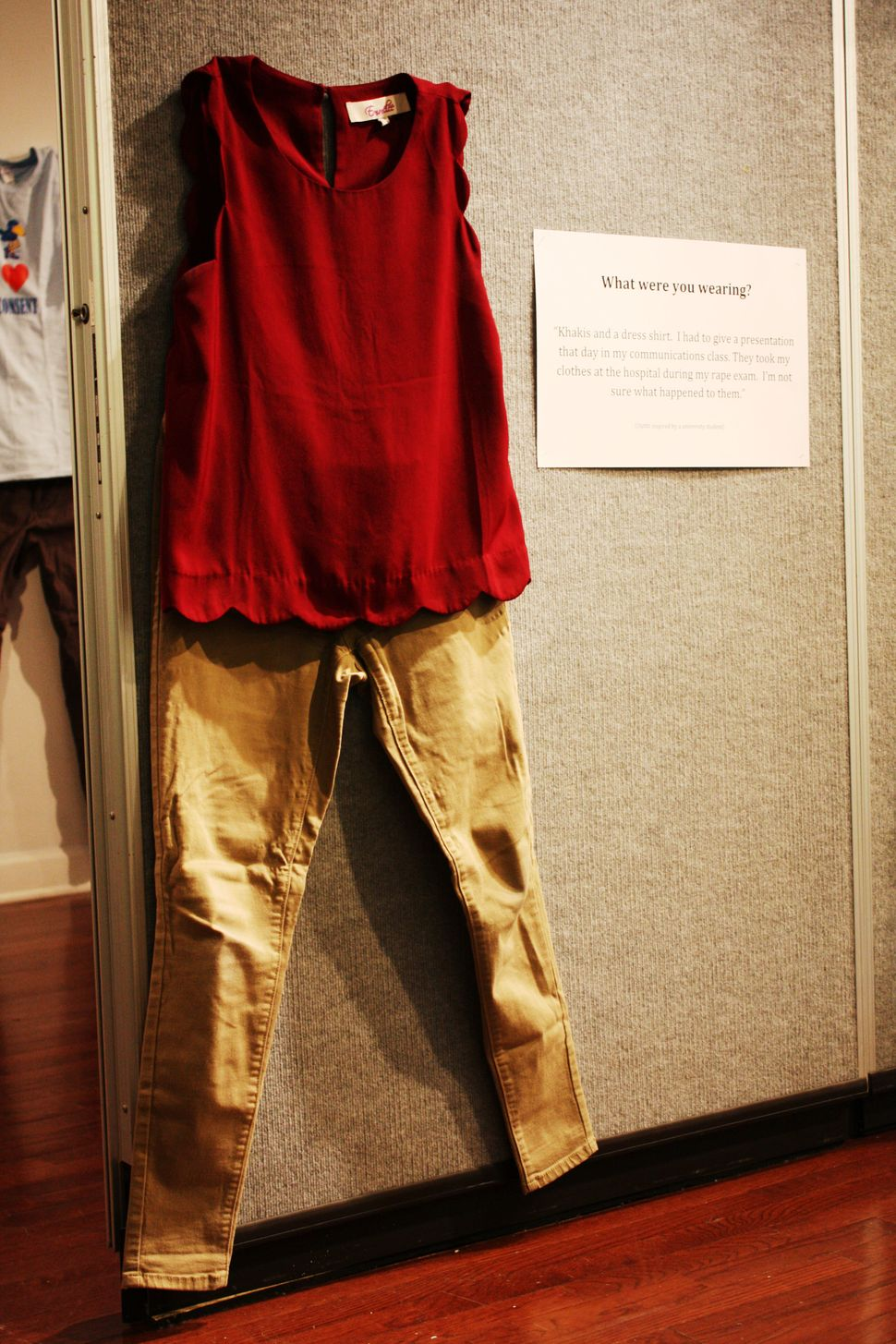 7bc2d50ea710 Art Exhibit Powerfully Answers The Question 'What Were You Wearing ...