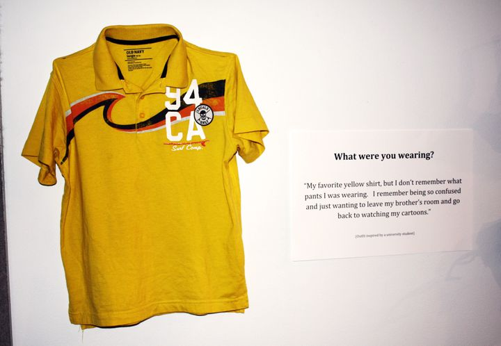 """<strong>What were you wearing?</strong> """"My favorite yellow shirt, but I don't remember what pants I was wearing. I remember being so confused and just wanting to leave my brother's room and go back to watching my cartoons."""""""