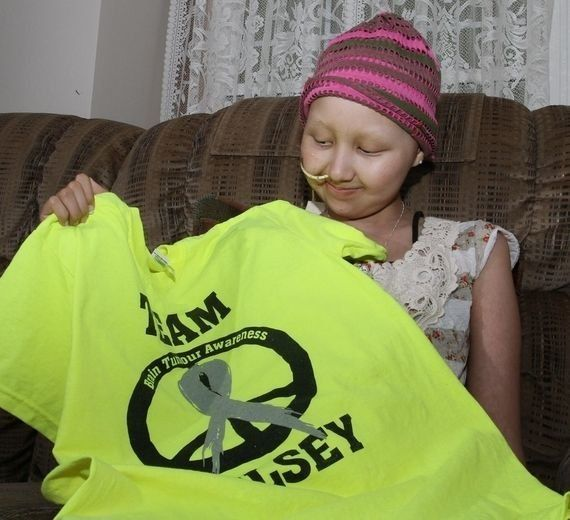 """""""September is Childhood Cancer Awareness Month. However, since losing our daughter Kelsey at the age of 13 to brain cancer, e"""