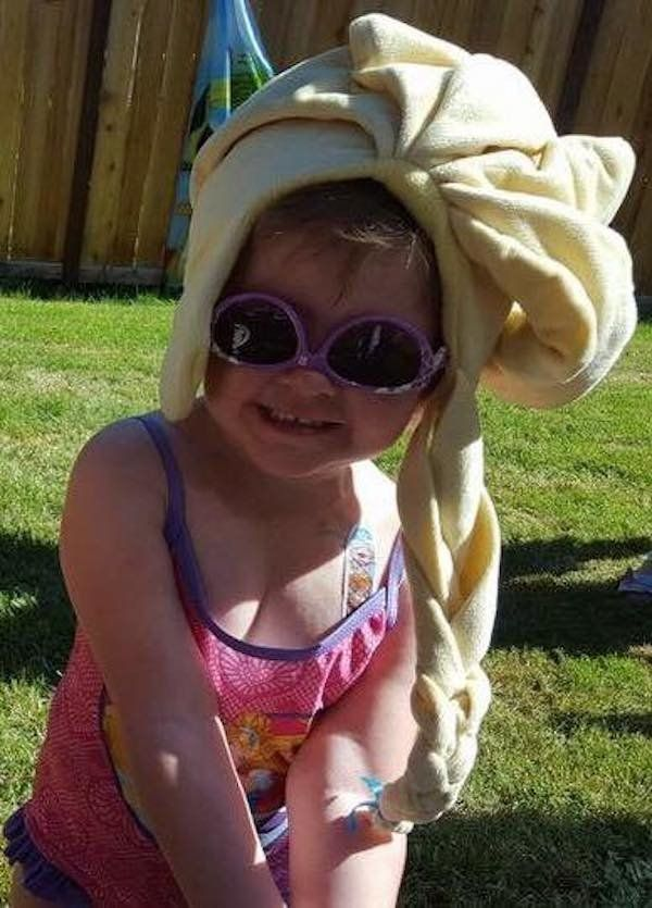 """""""My sweet girl Ellie. Diagnosed at 4 months old with a brain tumor. 28 rounds of chemo, 42 days of Radiation, and 17 surgerie"""