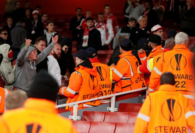 Arsenal Vs FC Koln Finally Kicks Off After Violence Sparked By Thousands Of Ticketless German