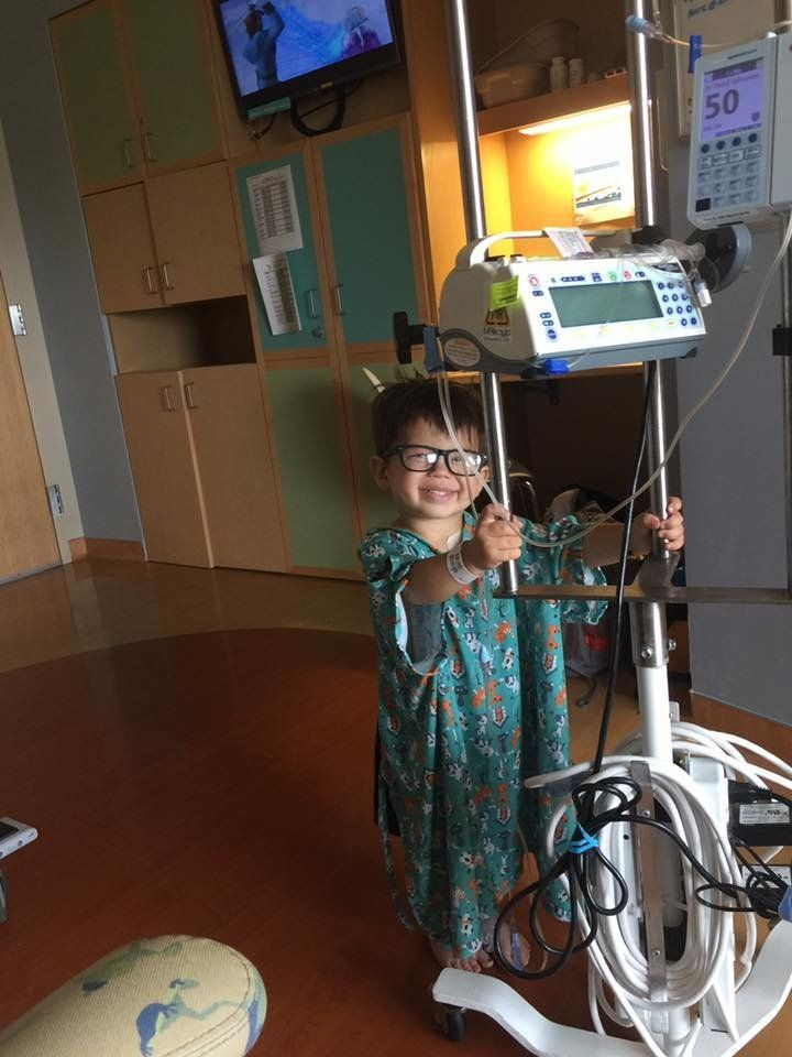 """""""This is Porter. He was diagnosed with ALL on July 9 this year. He has an estimated 3.5 years of treatment, and a lifetime of"""