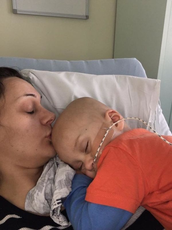 """""""Our Sebastian had a rhabdomyosarcoma in his bladder and prostate at the age of 18 months. He underwent nine rounds of chemo,"""