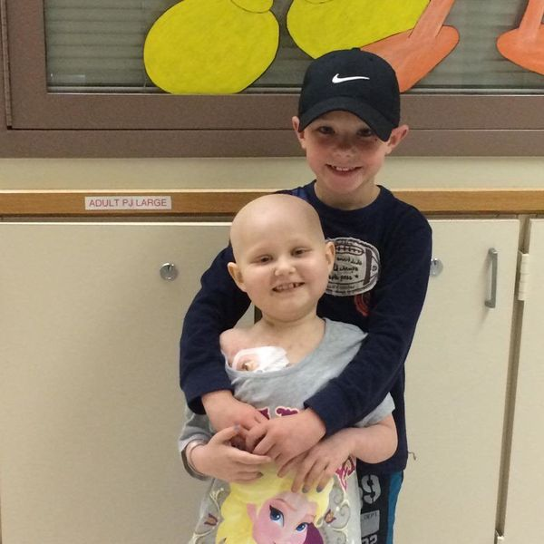 """""""My fighter Alyssa, 8 , relapsed ALL. She received a bone marrow transplant 2015, which came from her brother Jacob."""""""