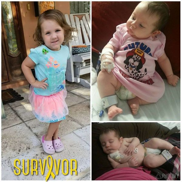 """""""Our daughter was diagnosed with hepatoblastoma (liver cancer) on Aug20, 2013. She was 2 months old and on February 14,"""