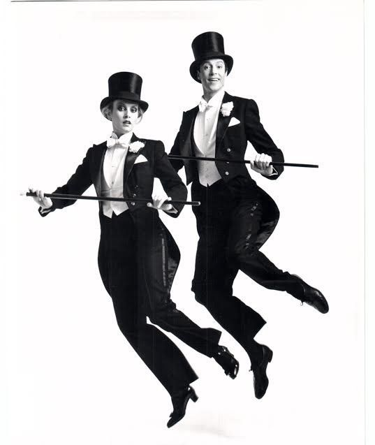 "In 1983, Twiggy (right) and Tommy Tune starred in ""My One and Only"" on Broadway."