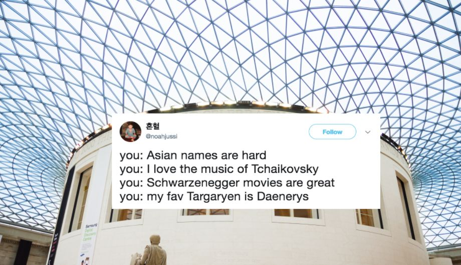 Twitter Calls Out Museum Curator For Saying Asian Names Are