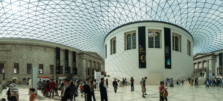 The Great Court at the British Museum in London.