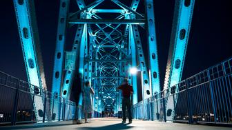 """LITTLE ROCK, AR - SEPTEMBER 13: The Junction Bridge can be seen during a HuffPost visit to Little Rock, Arkansas, on Sept. 13, 2017, as part of """"Listen To America: A HuffPost Road Trip."""" The outlet will visit more than 20 cities on its tour across the country. (Photo by Damon Dahlen/HuffPost) *** Local Caption ***"""