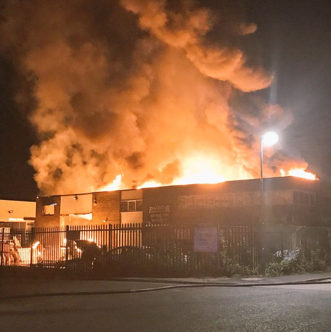 Households evacuated and rail services disrupted after warehouse fire in Harrow