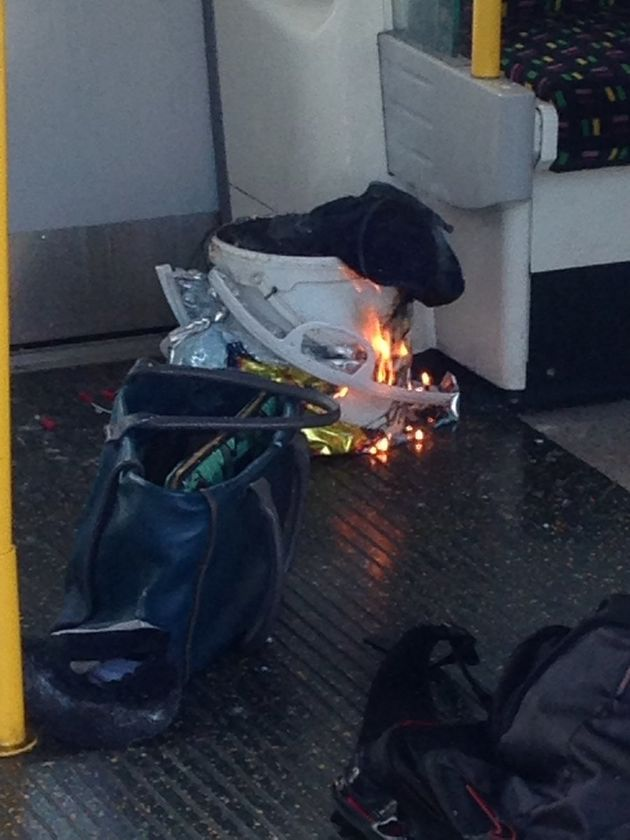 The device exploded on a District Line tube train on Friday