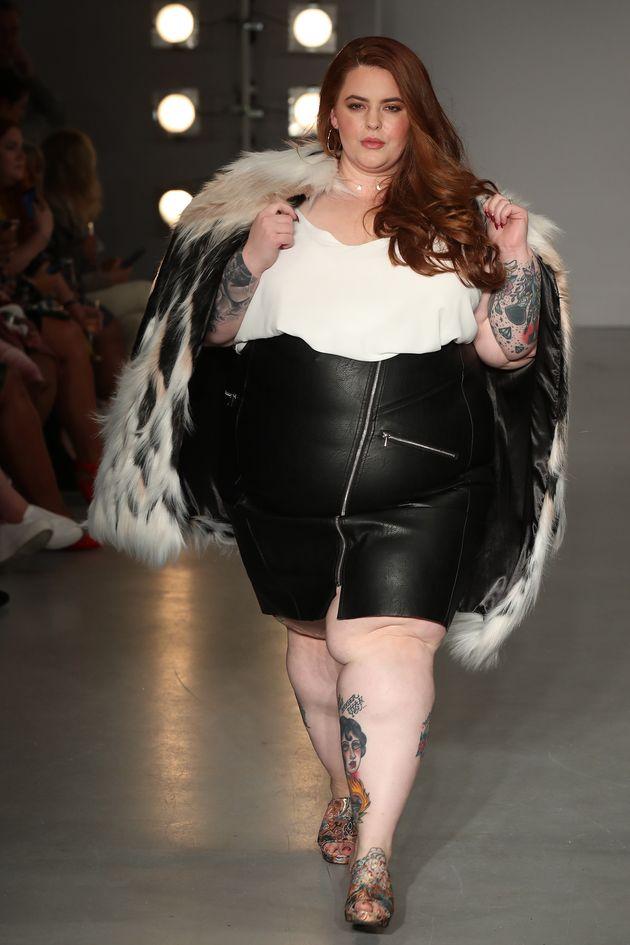 Tess Holliday walks the SimplyBe 'Curve Catwalk' ahead ofLondon Fashion Week on 14 September 2017...
