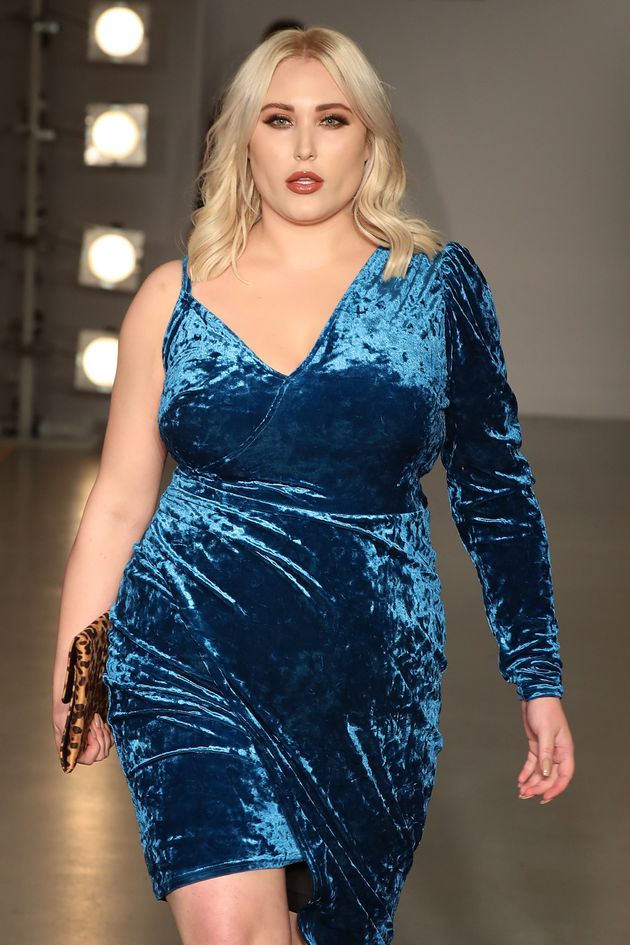 Hayley Hasselhoff walks the SimplyBe 'Curve Catwalk' on 14 September