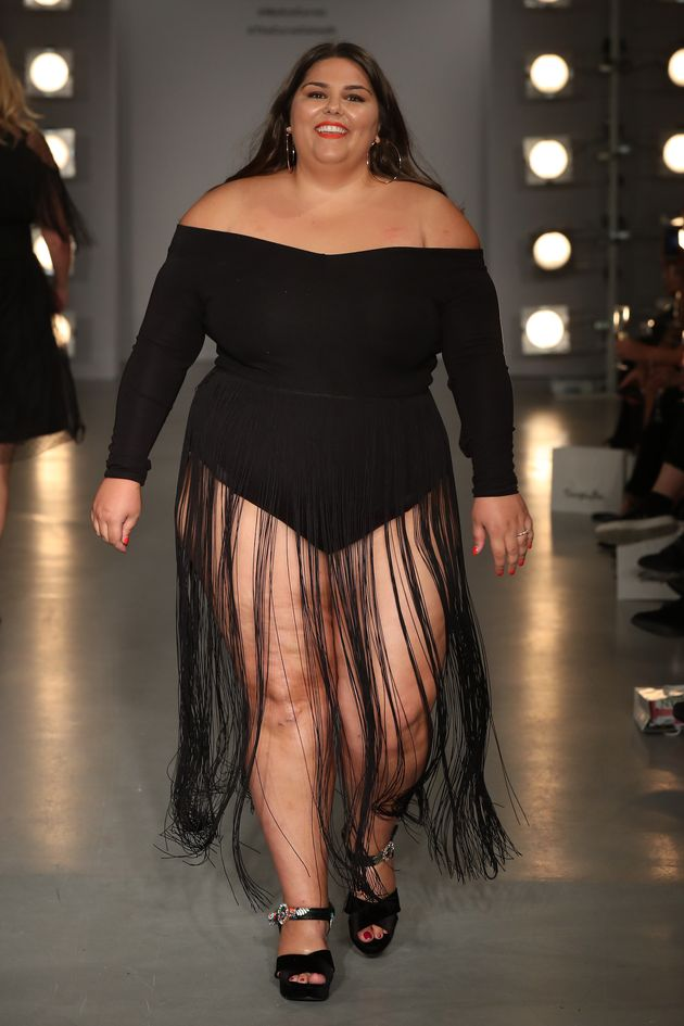 Callie Thorpe walks the SimplyBe 'Curve Catwalk' on 14 September