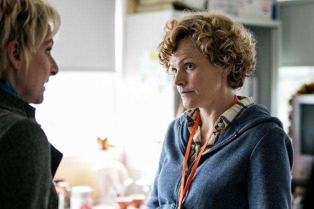 Maxine Peake playing Sara Rowbotham in the BBC docudrama Three