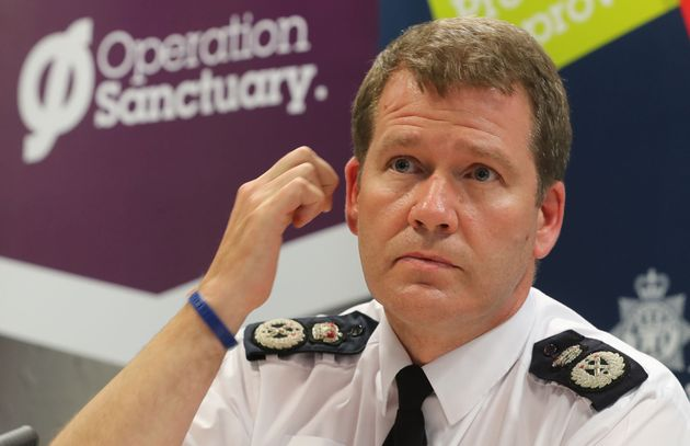 Northumbria Police Chief Constable Steve Ashman during a press conference in Newcastle after police paid...