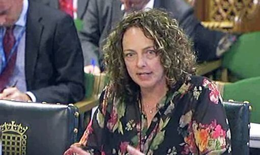 Sara Rowbotham giving evidence at the Home Affairs Select Committee in