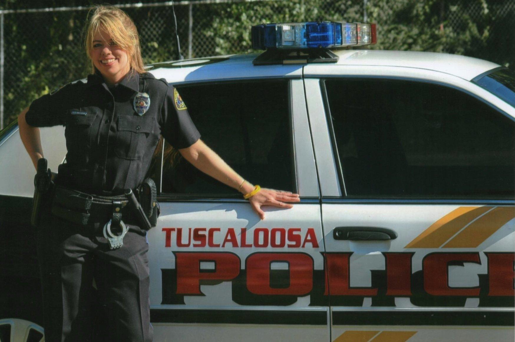 Stephanie Hicks when she was still in uniform