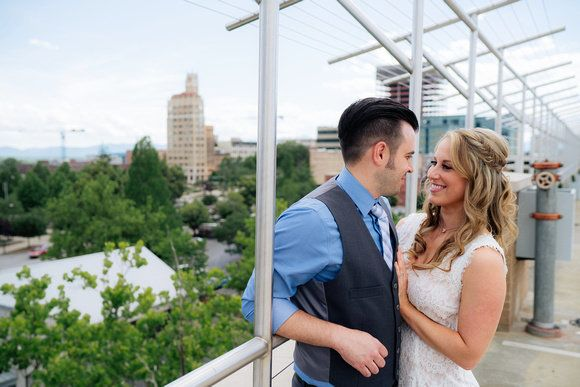 Newlyweds Amanda and Sean Magee after their Asheville, North Carolina, city hall elopement.