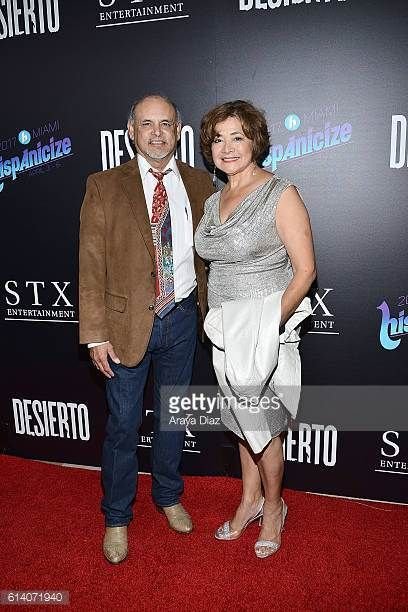 Credit:  Getty Images Enrique Castillo and Bel Hernandez attend the screening of STX Entertainment's 'Desierto' a