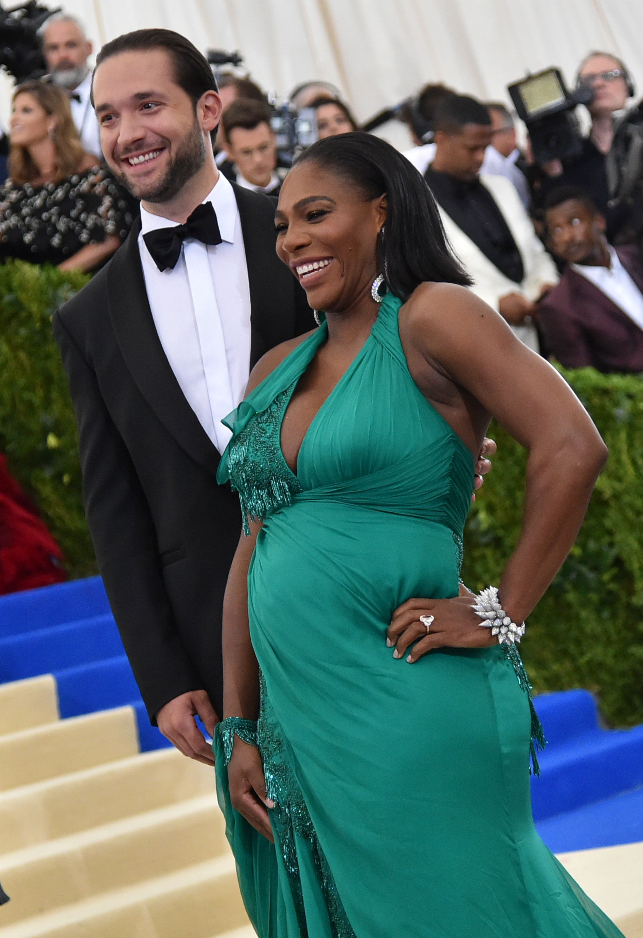 NEW YORK, NY - MAY 01:  Alexis Ohanian and Serena Williams attend the 'Rei Kawakubo/Comme des Garcons: Art Of The In-Between' Costume Institute Gala at Metropolitan Museum of Art on May 1, 2017 in New York City.  (Photo by Mike Coppola/Getty Images for People.com)