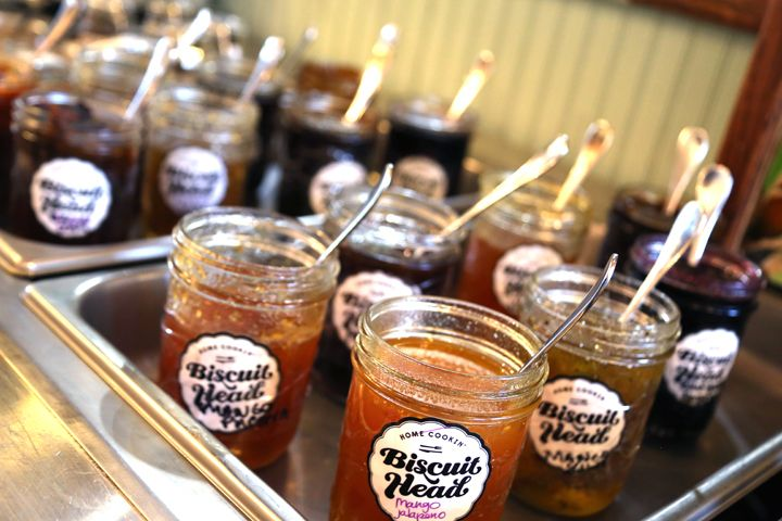 Don't miss the extensive jam bar