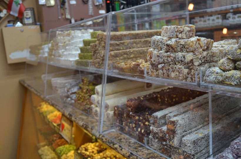 A variety of Turkish delights and specialized sweets at Hashem's Coffee & Nut Gallery in Dearborn, Mich.