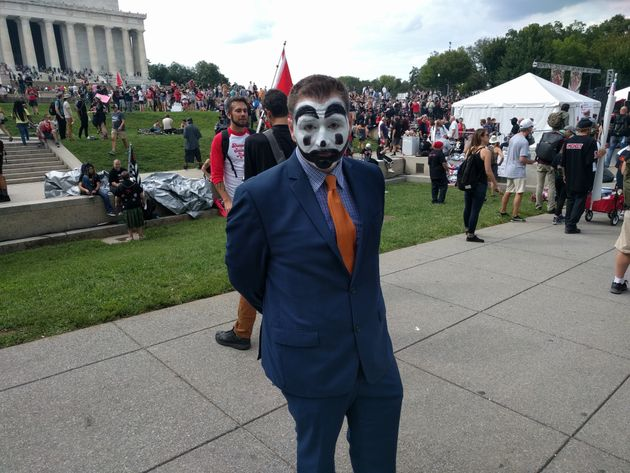 Christian Ike came from Los Angeles to protest the FBI's 2011 designation of juggalos as a