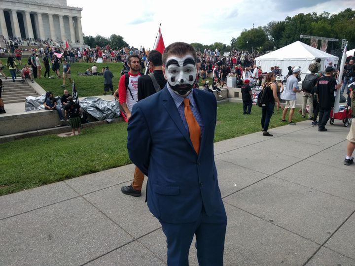 Christian Ike came from Los Angeles to protest the FBI's 2011 designation of juggalos as a gang.