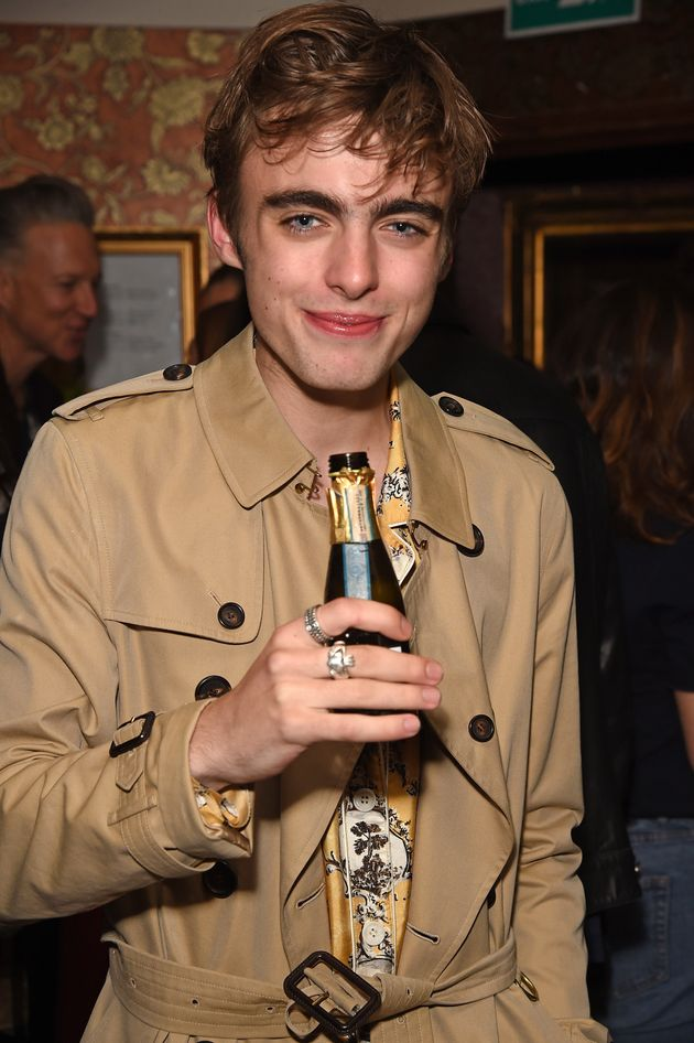 Lennon Gallagher atthe party celebratingBurberrys September collection and the Dazed Burberry...