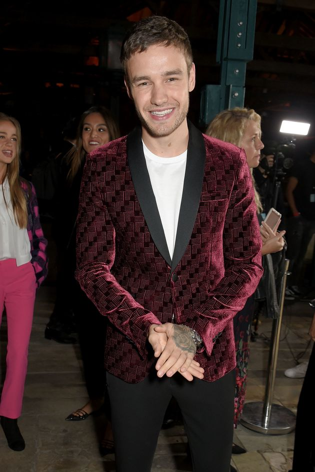 Liam Payne attends the Emporio Armani Show on 17 September